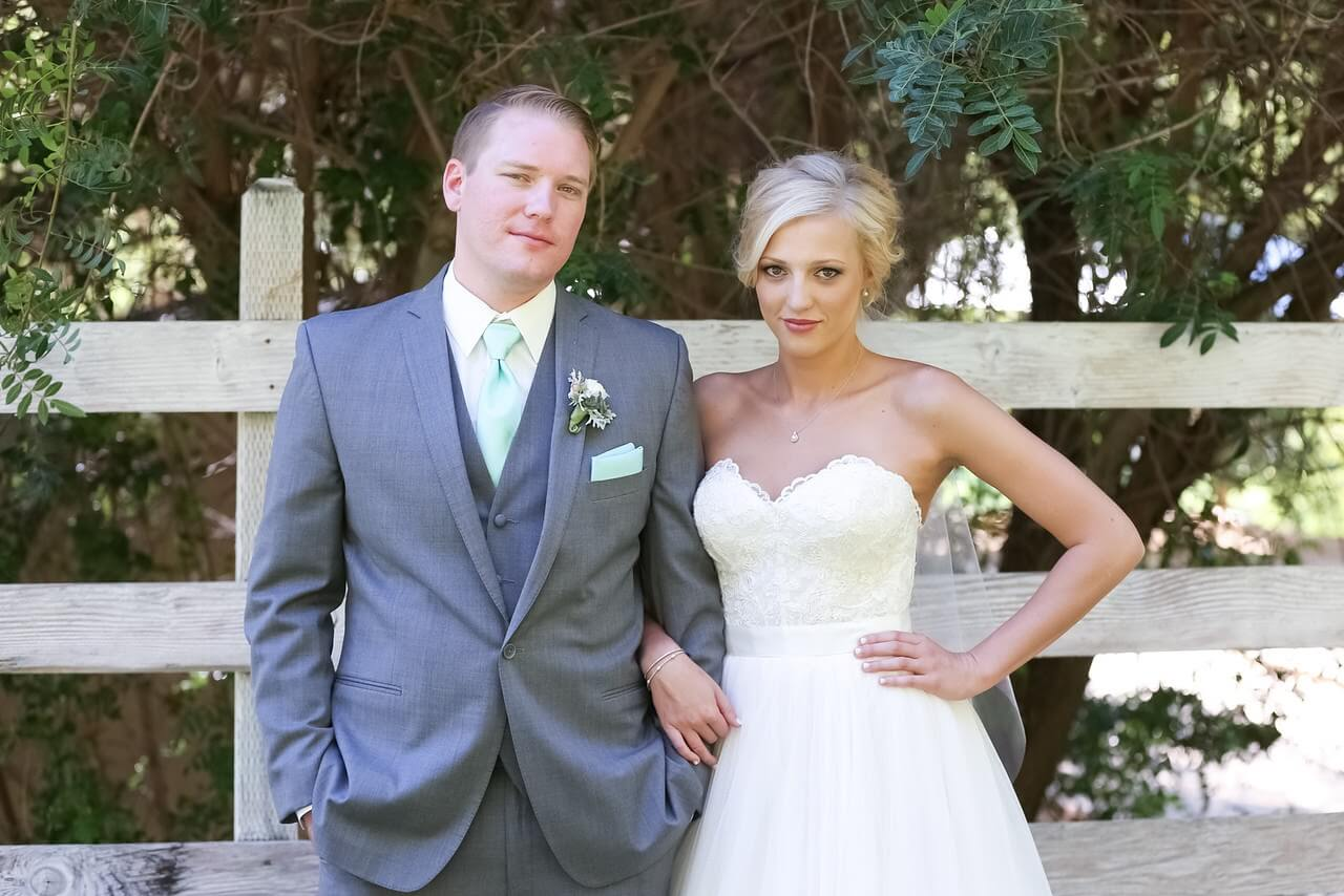 The beautiful Rae Miller and Jason Miller on their wedding day.