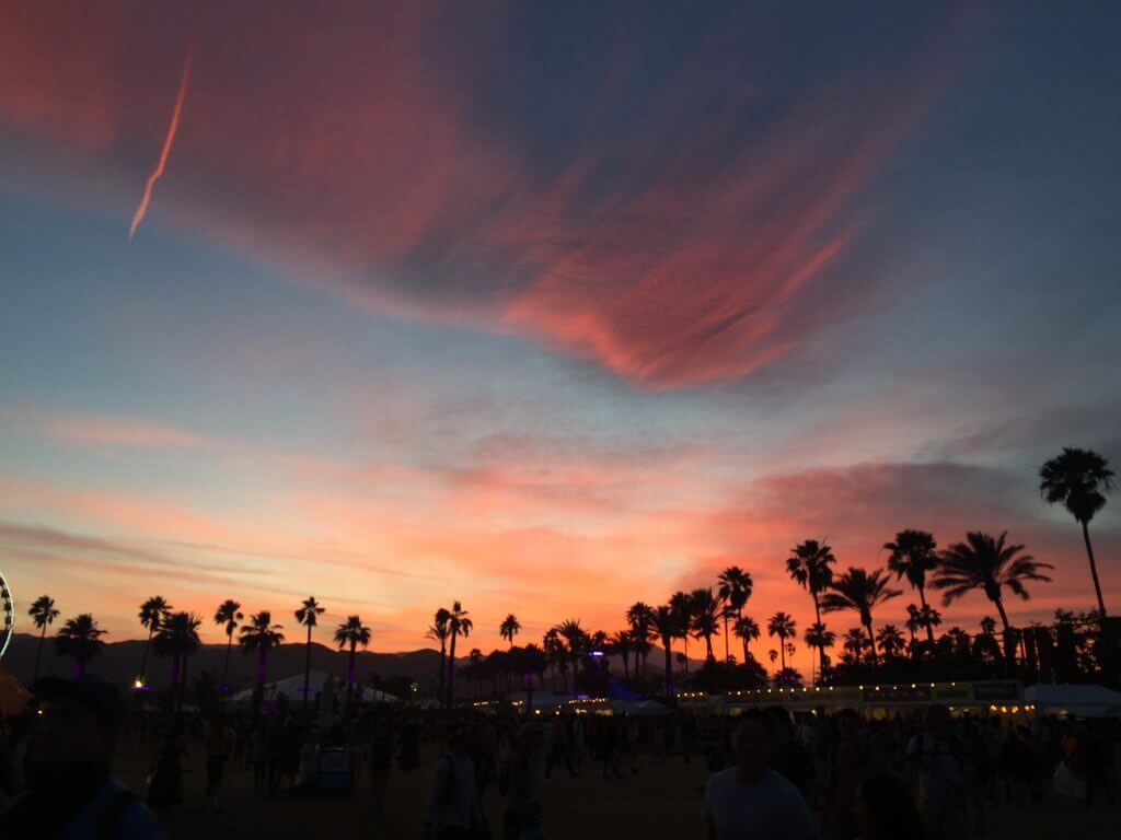 Sunset at Coachella