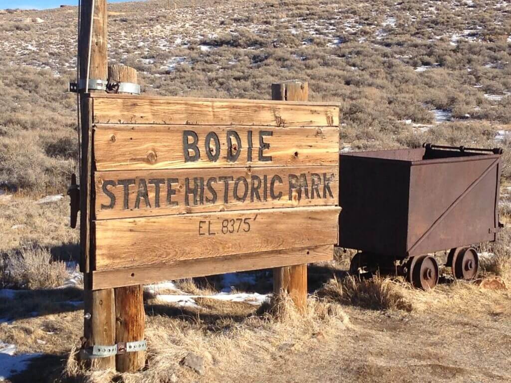 Bodie Park sign