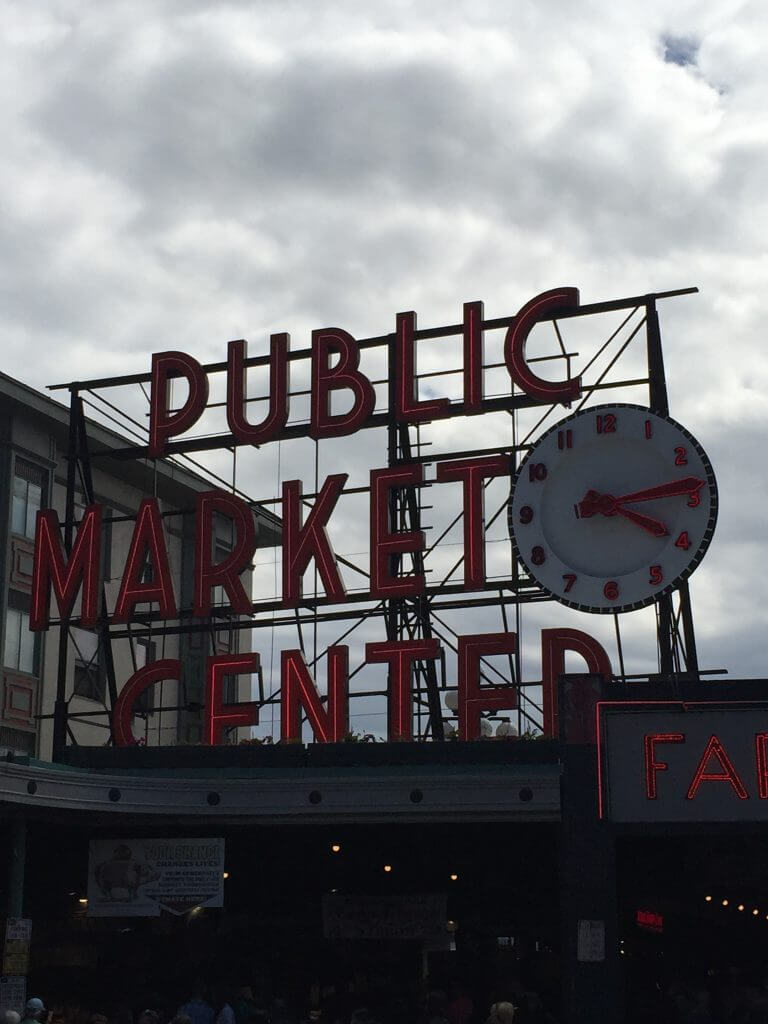 Sign in Seattle that says Public Market Center