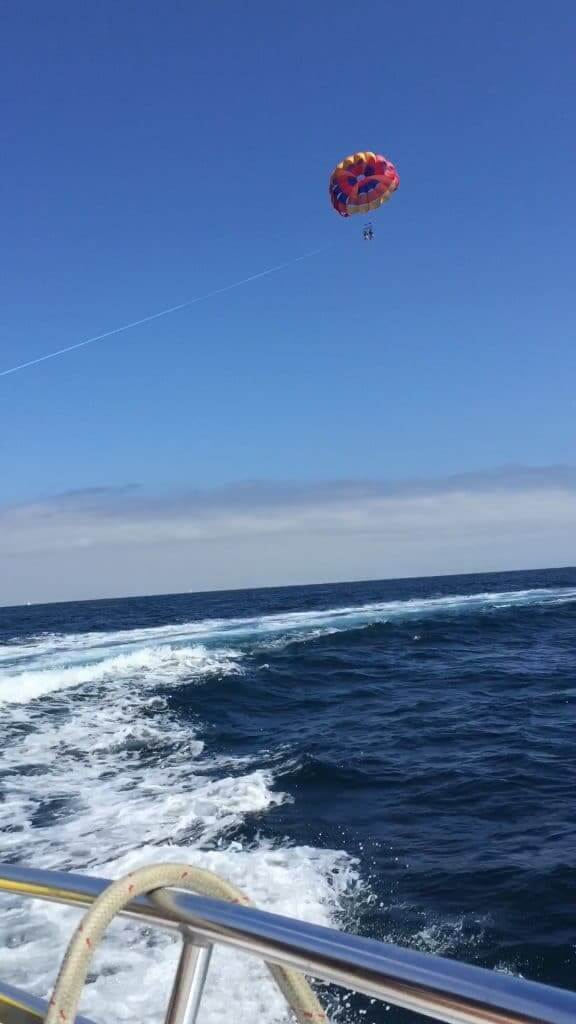 Parasailing on Catalina Island