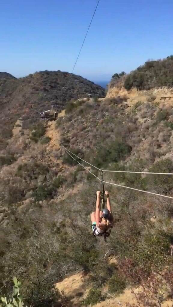 Zip lining in Catalina Island