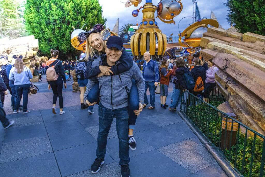 playing around at Disneyland