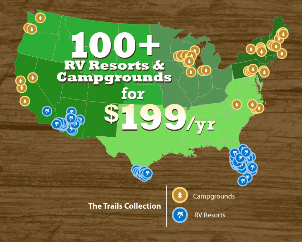 100+ RV Resorts and Campgrounds for $199 a year